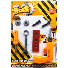 48 Units of TOOL PLAY SET ON BLISTER CARD - Light Up Toys