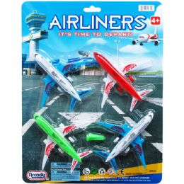 72 Units of Airliners Play Set On Blister Card - Cars, Planes, Trains & Bikes