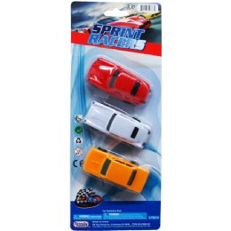 96 Units of Sprint Racers On Blister Card - Cars, Planes, Trains & Bikes