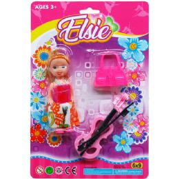 72 Units of Elsie Doll With Accesories On Blister Card - Dolls