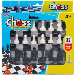 48 Units of Chess Play Set In Pegable Window Box - Dominoes & Chess