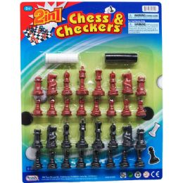 48 Units of Chess And Checkers Play Set - Dominoes & Chess