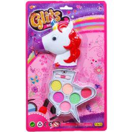 36 Units of Unicorn Shape Make Up Set On Blister Card - Girls Toys