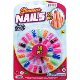 144 Units of Toy Nails Play Set On Blister Card - Girls Toys