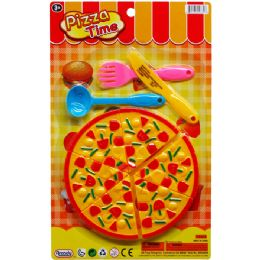 96 Units of Pizza Time Food Play Set On Blister Card - Toy Sets