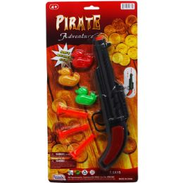 48 Units of PIRATE SOFT DART GUN WITH TARGET - Toy Weapons