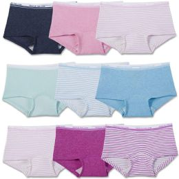 144 Units of Girls Fruit Of The Loom Boy Shorts Underwear Briefs and Panty Assorted Sizes 4-14 - Girls Underwear and Pajamas