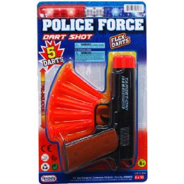 48 Units of TOY GUN WITH SOFT DARTS ON BLISTER CARD - Toy Weapons