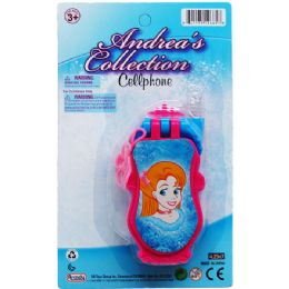 96 Units of Princess Cellphone On Blister Card - Novelty Toys