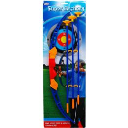 24 Units of SUPER ARCHERY PLAY SET TIED ON CARD - Darts & Archery Sets