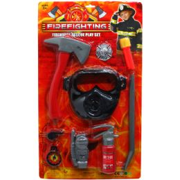 12 Units of Fire Fighter Play Set - Light Up Toys