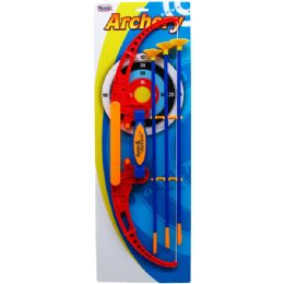 12 Units of SUPER ARCHERY PLAY SET TIED ON CARD - Darts & Archery Sets