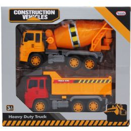 12 Units of Construction Vehicles In Window Box - Cars, Planes, Trains & Bikes