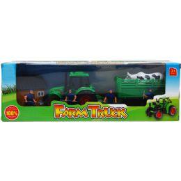 12 Units of Tractor Farm Play Set - Cars, Planes, Trains & Bikes