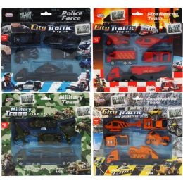 48 Units of Diecast Cars And Trucks In Pegable Window Box - Cars, Planes, Trains & Bikes