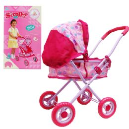6 Units of Steel Frame Toy Doll Stroller In Color Box - Girls Toys