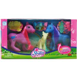 12 Units of Rainbow Pony Set - Dolls