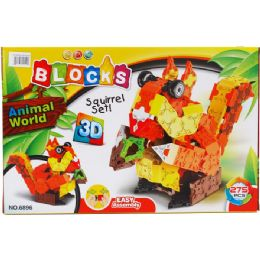 24 Units of Squirrel Block Play Set In Color Box - Light Up Toys