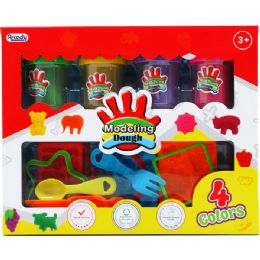 24 Units of CREATIVE PLASTICINE PLAY SET IN WINDOW BOX - Clay & Play Dough