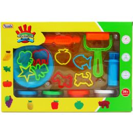 18 Units of CREATIVE PLASTICINE PLAYSET IN WINDOW BOX - Clay & Play Dough