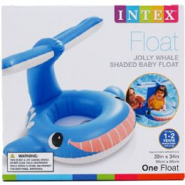 12 Units of WHALE BABY FLOAT IN COLOR BOX - Beach Toys
