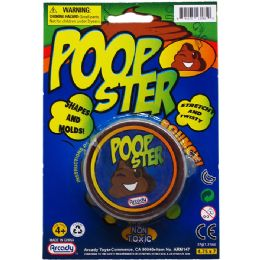 72 Units of Poopster Putty On Blister Card - Slime & Squishees