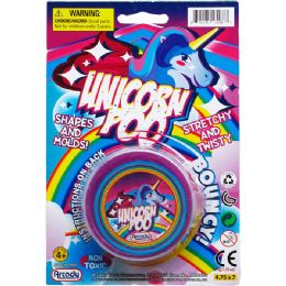144 Units of UNICORN POOP PUTTY ON BLISTER CARD - Slime & Squishees