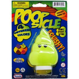 72 Units of Poopster Slime On Blister Card - Slime & Squishees