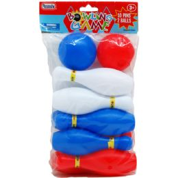 48 Units of MINI BOWLING PLAY SET IN POLY BAG - Sports Toys