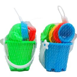 72 Units of BEACH TOY BUCKET WITH ACCESORIES - Beach Toys