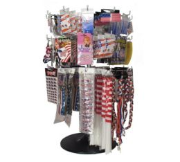 300 Units of Assorted Patriotic Flags Earring And Pins - Hat Pins & Jacket Pins