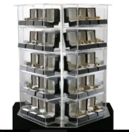 120 Units of Gift Box Rings Spinning Display Deal - Rings