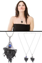 72 Units of Wizard Pendant Necklace With Bead Accent - Necklace