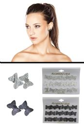 72 Units of Translucent Acrylic Glitter Butterfly Post Multiple Earring Set Assorted - Earrings