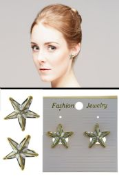 72 Units of Star Post Earrings Silver Tone - Earrings