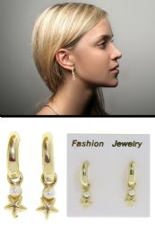 72 Units of Star Accent Post Earring Gold Tone - Earrings