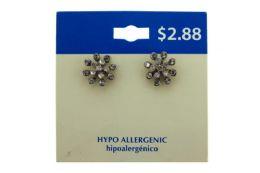 60 Units of Snowflake Style Stud Earrings - Earrings