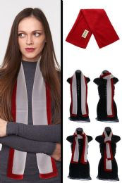 24 Units of Red And White Fleece Scarf - Winter Scarves