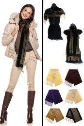 24 Units of Reversible Striped fashion Scarf In Assorted Colors - Winter Scarves