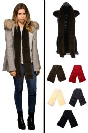 24 Units of Fuzzy Winter Fashion Scarf in Assorted Colors - Winter Scarves
