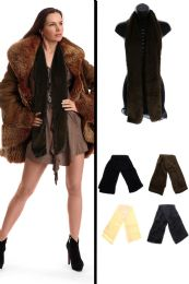 24 Units of Fuzzy Winter Scarf in Assorted Colors - Winter Scarves