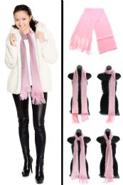 24 Units of Pink Fuzzy Winter Scarf - Winter Scarves