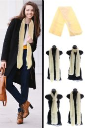 24 Units of White Fuzzy Winter Scarf - Winter Scarves