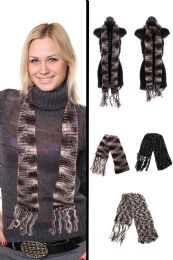 24 Units of Knit Scarf in Assorted Colors - Winter Scarves