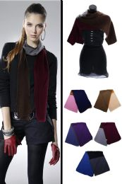 24 Units of Reversible Winter Scarf in Assorted Colors - Winter Scarves