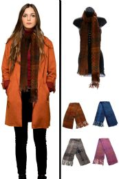 24 Units of Knit Fashion Scarf in Assorted Colors - Winter Scarves