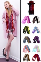 24 Units of Knit Winter Scarf in Assorted Colors - Winter Scarves