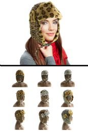 12 Units of Animal Prints Trapper Hat - Trapper Hats