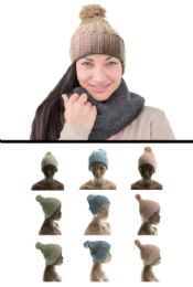 24 Units of Assorted Acrylic Knit Hat - Fashion Winter Hats