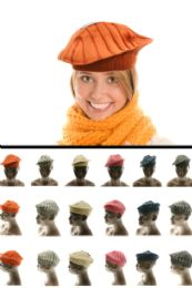 24 Units of Assorted Cotton Beret - Fashion Winter Hats